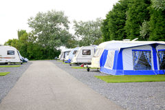 Caravan Campsite Royalty Free Stock Photo