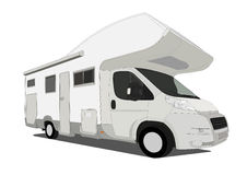 Caravan car Stock Image