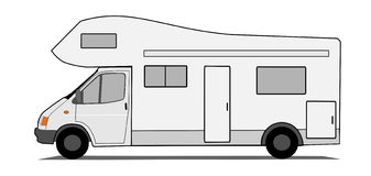 Caravan car Royalty Free Stock Image