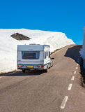 Caravan car travels on the highway. Stock Image