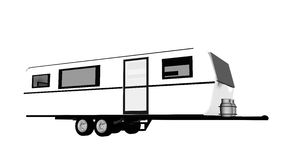 Caravan - 3D render Royalty Free Stock Images
