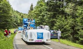 Caravan degli hotel del bilancio dell'ibis - Tour de France 2014 Immagini Stock Libere da Diritti