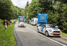 Caravan degli hotel del bilancio dell'ibis - Tour de France 2014 Fotografie Stock