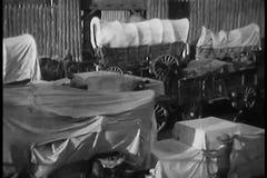 Caravan dei vagoni coperti archivi video