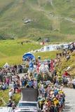 Caravan del Carrefour in alpi - Tour de France 2015 Fotografia Stock Libera da Diritti