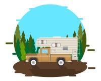 Caravan della raccolta sulla strada Immagine Stock
