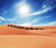 Caravan in desert Royalty Free Stock Photography