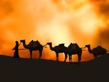 Caravan in the desert Royalty Free Stock Photo