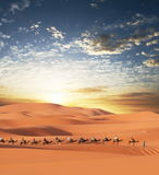 Caravan in desert Stock Photo