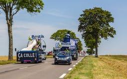 Caravan di Bostik - Tour de France 2017 Immagine Stock Libera da Diritti