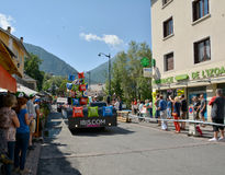 Caravan di pubblicità, Tour de France 2017 Immagini Stock