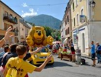 Caravan di pubblicità, Tour de France 2017 Fotografia Stock Libera da Diritti