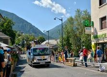 Caravan di pubblicità, Tour de France 2017 Immagine Stock Libera da Diritti