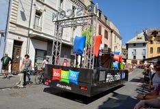 Caravan di pubblicità, Tour de France 2017 Fotografia Stock