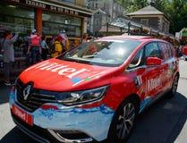 Caravan di pubblicità, Tour de France 2017 Immagini Stock Libere da Diritti