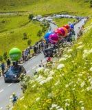 Caravan di Senseo - Tour de France 2014 Fotografia Stock Libera da Diritti