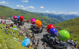 Caravan di Senseo - Tour de France 2014 Fotografie Stock
