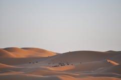 Caravan at Dunes stock image