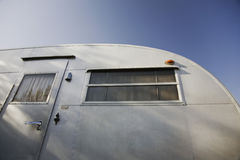 Caravan exterior low angle view Stock Photo