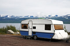 Caravan holiday Stock Image