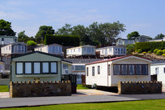 Caravan Holiday Park. Looking over towards holiday caravans on the North Wales coast Royalty Free Stock Photography