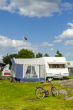 Caravan holiday Sweden Stock Photography