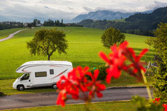 Caravan holiday Royalty Free Stock Photo