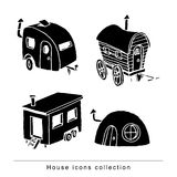 Caravan icon, vector illustration. black color, black. Stock Photos