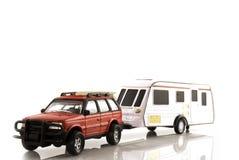 Caravan met auto royalty-vrije stock foto's