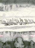 Caravan nel deserto Immagini Stock