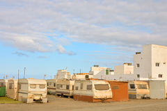 Caravan Park in the Desert Royalty Free Stock Image