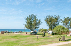 Caravan park in Jeffreys Bay Stock Image