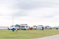 Caravan park in Jeffreys Bay Stock Photos
