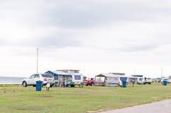 Caravan park in Jeffreys Bay Stock Photos