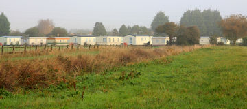 Caravan Park - Mobile Homes Stock Image