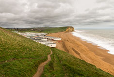 Caravan Park at West Bay Dorset in UK Royalty Free Stock Image