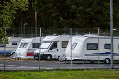 Caravan rental place in Stockholm Stock Photography