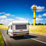 Caravan on the road Royalty Free Stock Image