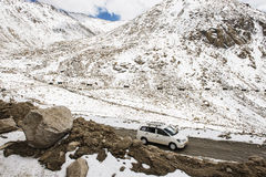 Caravan road trip at Chang La Pass third highest motorable road in the world Ladakh Royalty Free Stock Photos