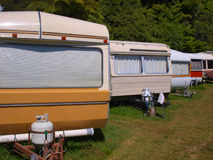 Caravan Row Stock Images