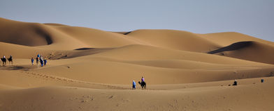 Caravan in Sahara desert April 16,2012 stock photography