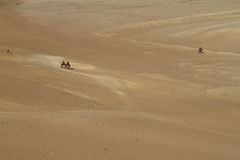 Caravan in the Sahara Royalty Free Stock Photography