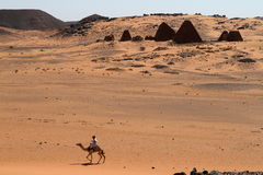 Caravan in the Sahara from Sudan near Meroe Royalty Free Stock Image