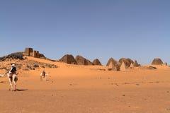 Caravan in the Sahara from Sudan near Meroe Stock Image
