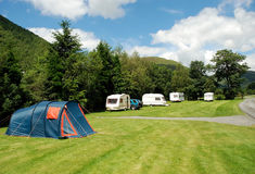 Caravan Site 01 royalty free stock photography