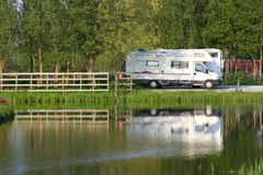 Caravan site Stock Photography