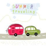 Caravan summer vacation travel Stock Photo