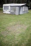 Caravan with tent Stock Image