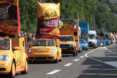 The caravan of Tour de France Royalty Free Stock Images