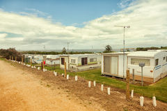 Caravan or trailer park Stock Photos